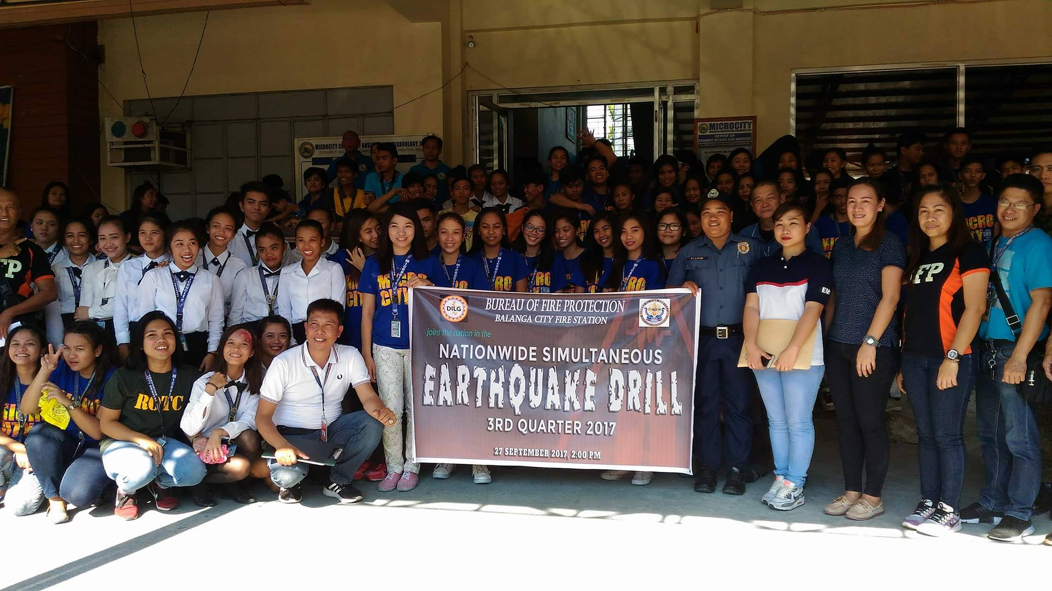 Earthquake and Fire Drill 2017